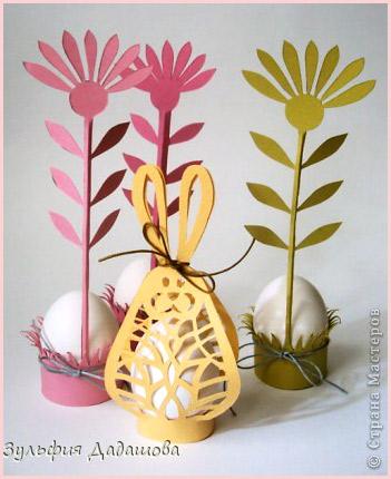 подставка для пасхальных яиц из бумаги