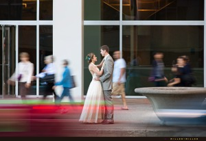 bustling-street-traffic-around-bride-groom