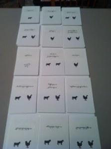 escort cards back