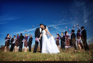 purple-wedding-balloons-sky